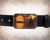 Belt Buckle - The Escape - Leather Insert Belt Buckle