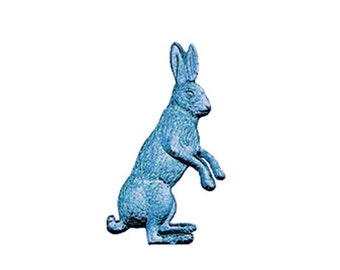 6 Germany Blue Die Cut Paper Foil Dresden Bunnies Rabbits