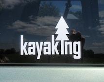 Kayaking vinyl decal, adventure sticker, outdoors, kayak decal, hiking decal, outdoor decal, outdoor adventure, hike, camp, paddle decals