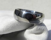 Wedding Band, Titanium Ring Classic Dome Polished