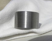 EXTRA WIDE Widths Only Titanium Ring or Wedding Band Stone Finish