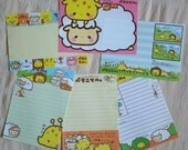 New kawaii cute Japanese stationary paper letters envelopes animals giraffe sheep lion safari