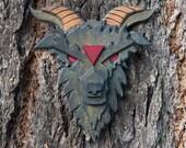 Wood Goat Head