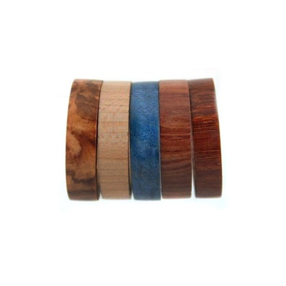 Wood Inlays For Interchangeable Rings, Customizable Wedding Bands or Wedding Anniversary Rings