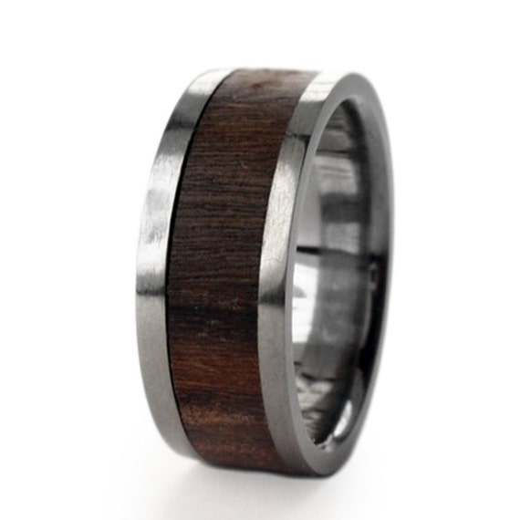 Titanium with Bolivian Rosewood Inlay, Ring Armor Included