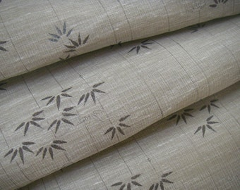 Vintage linen Japanese kimono fabric (bamboo) never used