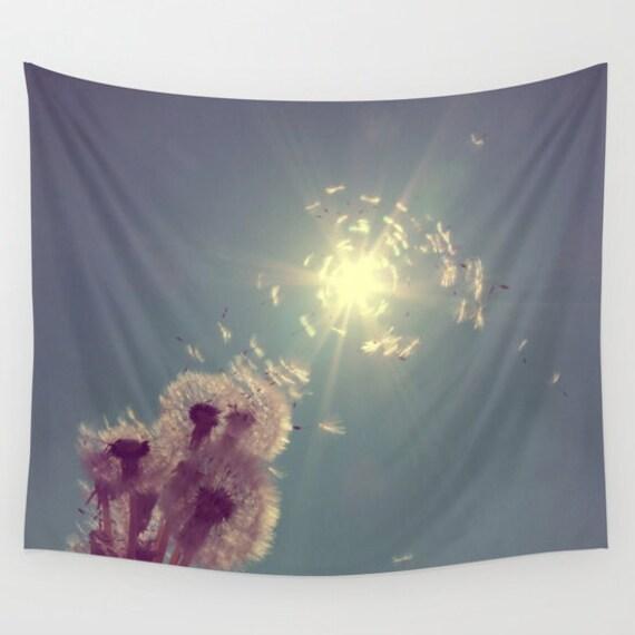 Sundance Tapestry, Dandelion Tapestry, Sky Tapestry, Sunshine Large Wall Decor, Photo Tapestry, Modern Decor,Wall Hanging, Nature, Dorm