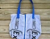 Small Parachute Tote Bag : Royal Blue Excalibur Parachute Logo Panels