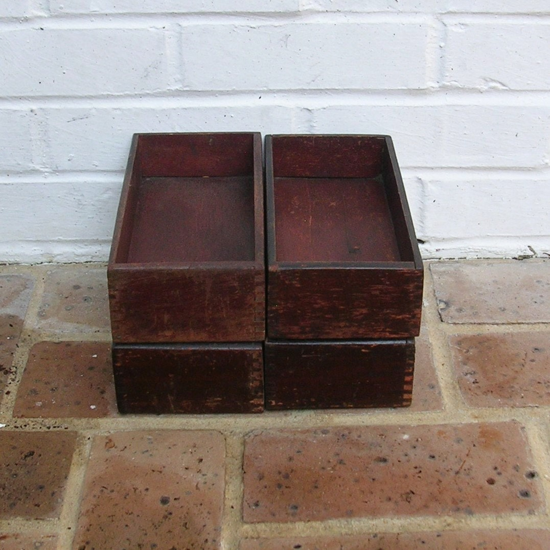 Wood Drawer Boxes ~ Vintage wooden box drawer
