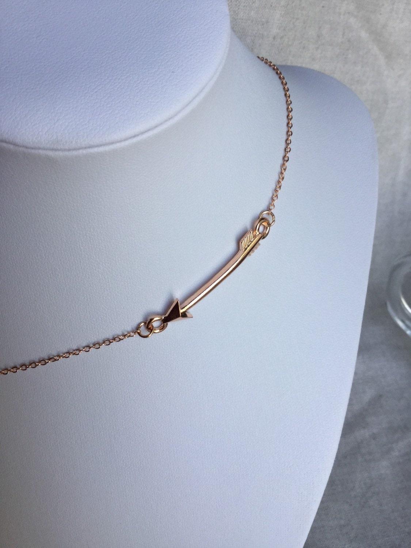 arrow necklace gold necklace arrow jewelry