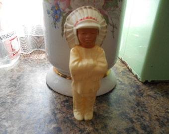Vintage Hard Plastic Indian Chief Doll