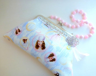 evening bag, Rockabilly wedding bag, wizard of oz, Hollywood Regency, bridal bag, cocktail clutch, bridesmaid bag, gift for her, prom