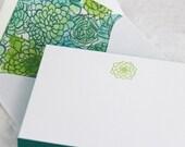 Succulent Fancy Pants - Letterpress Notecards