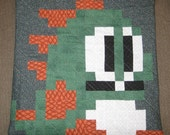Bubble Bobble / Bust a Move Quilted Pillow Cover - free shipping