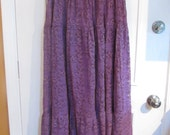 purple lace skirt Womens hippie skirt Tall plus size witch Skirt
