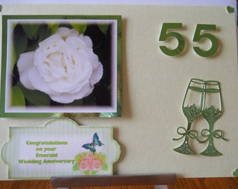 Lovely Emerald wedding aniversary card