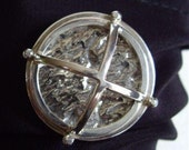 Unisex Tie Tac Brooch Pin Solid Sterling Ship's Light Nautical