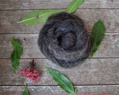 Wool for Needle Felting | Gray/Black