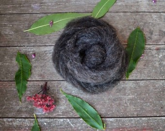 Wool for Needle Felting | Gray/Black