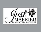 Just Married Wedding Car Magnets - Car Magnet Vintage Victorian French Country Rustic Vineyard Just Married Wedding Car Magnets