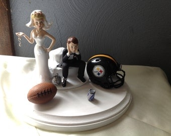 pittsburgh steelers wedding cake topper wedding cake topper pittsburgh etsy 18624