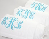 Personalized Spa Wrap Bridesmaids Gift Monogram Embroidered Gift