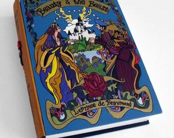 Hollow book, hidden safe box - Beauty and the Beast-  book hideaway box.  Secret drawer.