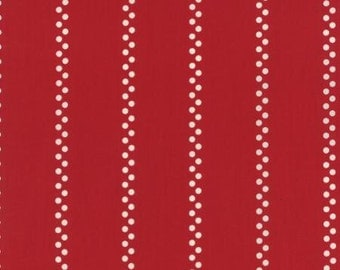 Per Yard - ALa Carte Bistro Stripe Red 21665 13 by American Jane for  Moda