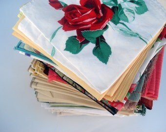 SALE -- Large set of 158 dinner napkins - eclectic instant collection