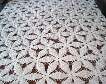 Stunning handmade crochet bedspread