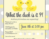 The Original What the Duck is it Gender Reveal shower Invitation 25 5x5 press printed cards with envelopes