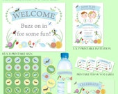 Custom Bug Garden Party Printable Party Pack for Nicole