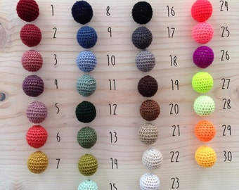 CUSTOM Crochet and Wood Teething Toy