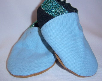 Leather baby shoes Sample blue and navy suede leather 6-12 mths - boy leather shoes - leather booties -