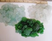 Craft Sea Glass - Mosaics - Wedding Decor - 100 Beach Glass Bulk - seafoam blue, green or white