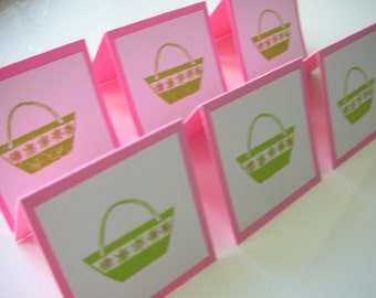 6 Tote Bag Mini Cards - Fashion Cards - Enclosures - Home and Living - Paper Goods - Stationery and Party - Lunchbox Notes - 2x2 inches