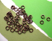 Jump Rings 5 mm/18 gauge in Antique Copper from Garlan Chain - 50 Count