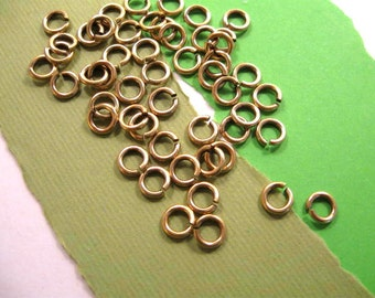 5mm - 18 Gauge Jump Rings from Garlan Chain in Antique Gold - 50 Count