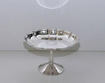 Vintage International Silver Co Chippendale Pedestal Candy Nut Dish