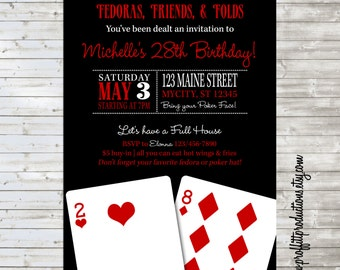 Custom casino party invitations casino equipment to hire