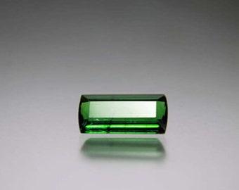 Green Tourmaline Beads - Emerald Cut Gem - Green Tourmaline - Gemstone