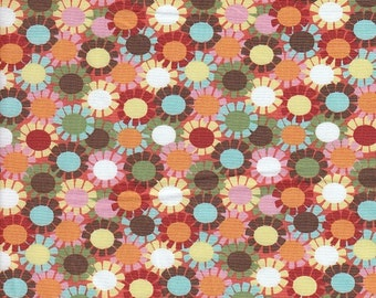 Blank Quilting Hoodie Cutie Pie Floral in Orange - Half Yard