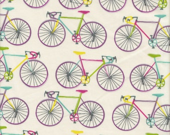 Blend Fabrics Home Grown Bike Ride in Ivory - Half Yard