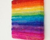 Rainbow Dreams - A Bright and Bold Felted Painting Inspired by the magical colours of the Rainbow -Original Art. Stretched on a Frame
