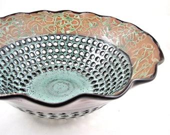 Pottery fruit bowl , fruit bowl , modern home decor - made to order