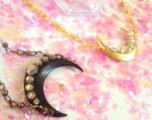 SET OF 2 Sailor Moon Black Moon and Serenity crystal tiara