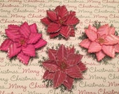 Scrapbooking, Cardstock Flowers, 3D Embellishments, Tags, Cards, Mixed Media, Paper Craft Supply, Holidays, Package Topper, Die Cuts, Kit