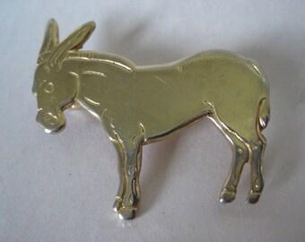 Donkey Ass Gold Brooch Vintage Pin