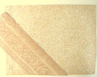 Vintage 1932 Wallpaper Sample and Border - Bacon