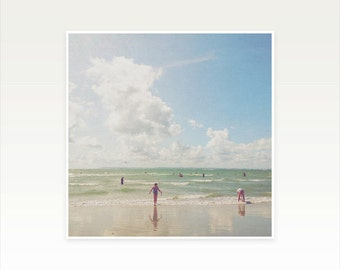 Beach Surf Photography, People Photograph, Landscape, Ocean Art, Nautical Decor - Nature's Playground